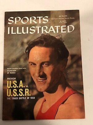 July 20, 1959 USA vs USSR Vasily Kuznetsov Sports Illustrated NO LABEL NEWSSTAND