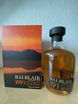 Balblair Vintage 1991 / 2009 Highland Single Malt