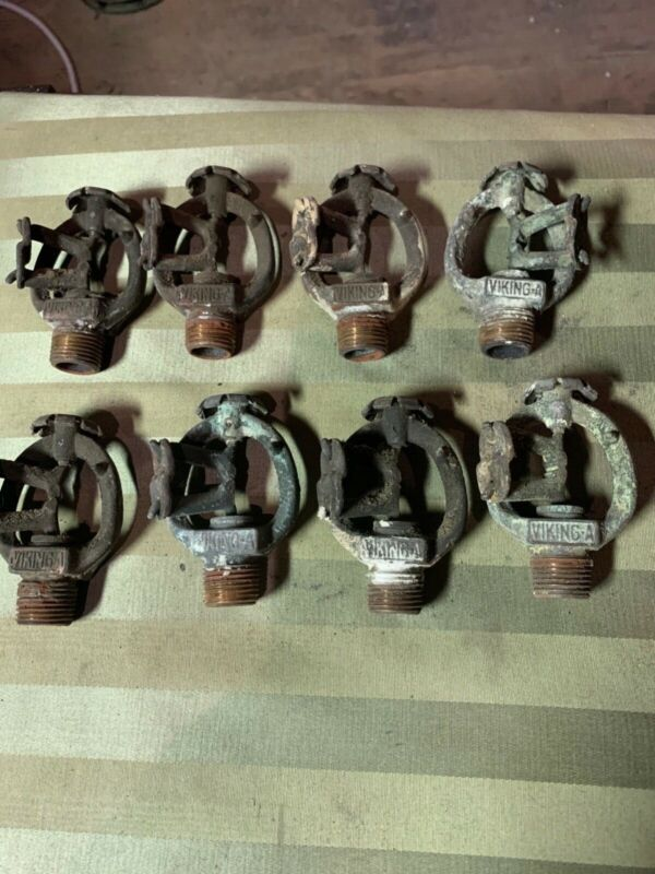Lot of 8 Antique 1928 Viking Model A 160 Brass and Copper Fire Sprinklers