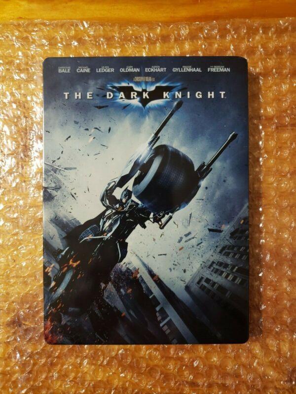 Batman The Dark Knight (DVD, 2008) Christopher Nolan Heath Ledger RARE STEELBOOK