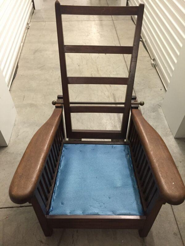 F.W. Ferguson Recliner Chair With Brass Bar