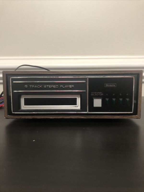 Vintage Sears 8 Track Player Tested & Working
