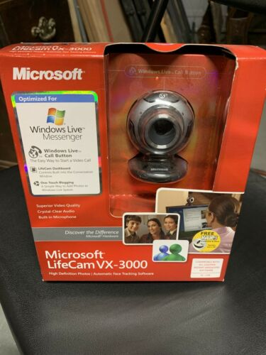 Microsoft LifeCam VX-3000 PC DESKTOP / LAPTOP USB Web Cam We