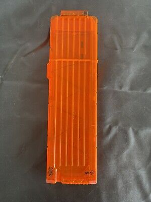Nerf N-Strike 18 Max Round Dart Gun Ammo Clip Magazine Orange Transparent