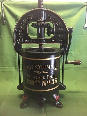Enterprise 8 Qt Sausage Stuffer Lard Wine Fruit Duck Cider Press