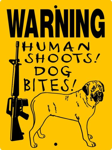 "0570 Mastiff, Bull Mastiff, English Mastiff 9""x12"" Aluminum Sign"