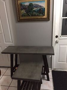 Brand new console and end table