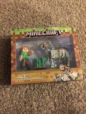 Minecraft Alex with Skeleton Horse