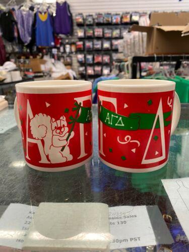 Set of 2 Alpha Gamma Delta Mascot Plastic Coffee Mugs NEW, RETRO, RETIRED