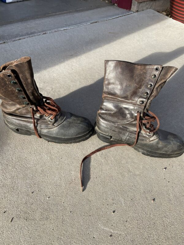 WWII US Original Shoe Pac Boots Size 10N
