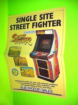 Capcom STREET FIGHTER Original NOS 1987 Video Arcade Game Flyer Electrocoin #3