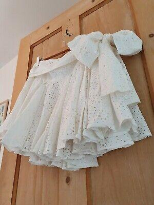 VTG AllSaints Amelie Russian Doll Skirt 12 14 White Rara Ruffle Hippie Boho