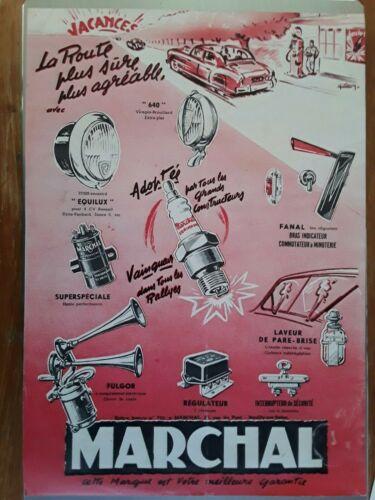 Publicité ancienne automobile Marchal 1951