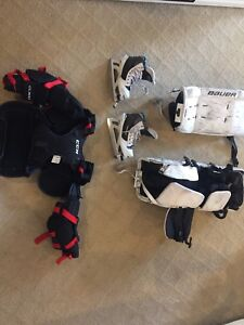 Youth Goalie Equipment, pads, pants, skates-$250