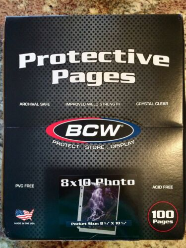 "BCW Photo Protector Pages, 8x10"" - 50 pack"