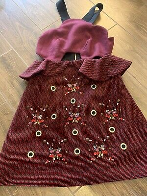 Three Floor Burgundy Jeweled Mini Dress