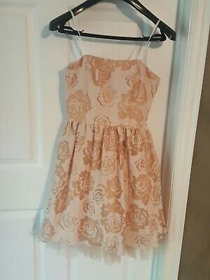 GB Gianni Bini womens juniors Floral Ruffled Dress Xl Extra Large Dillards Dillards Special Occasion Dresses