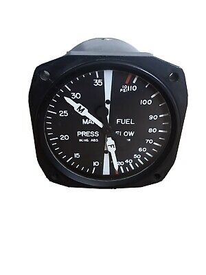 ex RAF Aircraft Manifold Pressure and Fuel Flow gauge