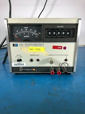 Hp 6115a Precision Power Supply 0-50v.8a 50-100v.4a Lab Tested