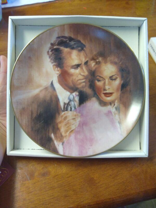 Collectors Plate- Cinema Classics  1985 Indiscreet Cary Grant And Ingrid Bergman