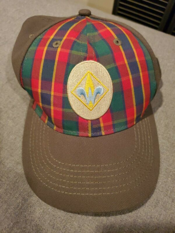 Cub Webelos Boys Scouts of America BSA Hat Cap Size s/m Plaid Green Uniform VGC
