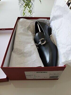 Salvatore Ferragamo Giant 2 Mens Gancini Black Dress Shoes Size 9 EE NIB