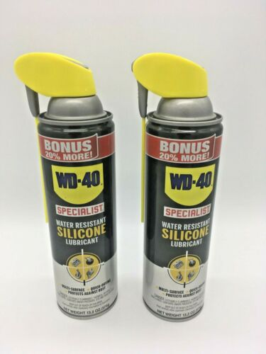 (2 PACK) WD-40 Specialist - Water Resistant Silicone Lubricant Spray 13.2 oz.