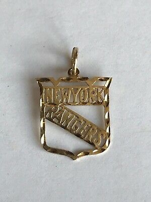 14K Gold NY Rangers Pendant Charm For Necklace/ Chain 2.4 GRAMS ~GIFT FOR DAD!