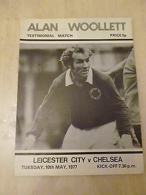 1977 ALAN WOOLLETT TESTIMONIAL- LEICESTER CITY v CHELSEA