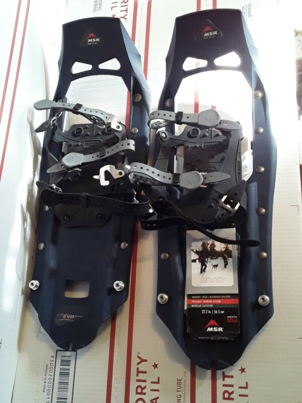 """NEW MSR EVO 22"""" SNOWSHOES COMPLETE READY TO USE"""