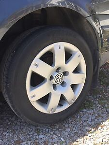 Set of 4 VW tires and rims
