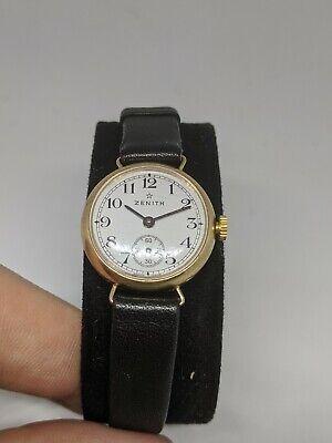 Vintage Ladies 9ct Gold Zenith Watch