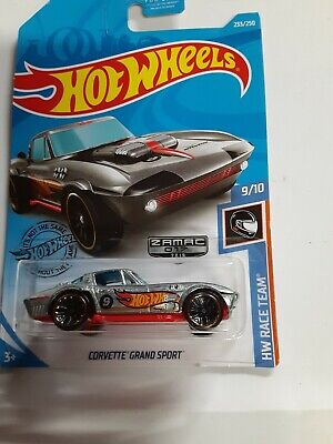 2019 HOT WHEELS HW RACETEAM CORVETTE GRAND SPORT (ZAMAC) NIP