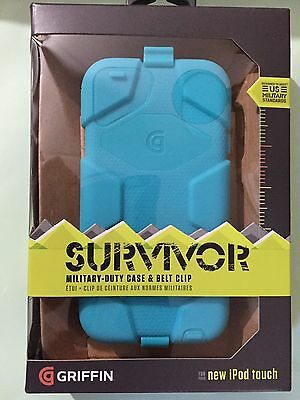 Griffin Survivor Case + Belt Clip for iPod touch 5th / 6th Gen Pool Blue