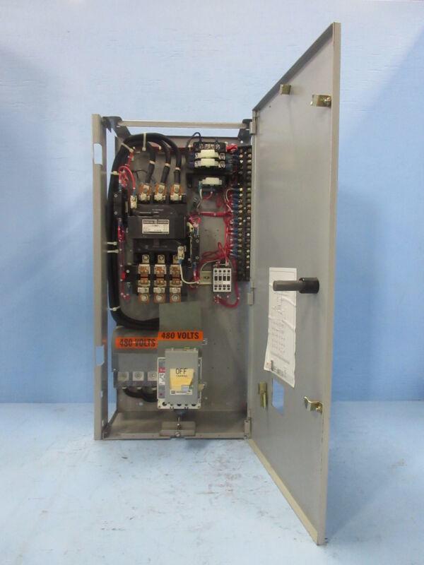 "General Electric GE 8000 Size 4 Starter 100 Amp Breaker Type 30"" MCC Bucket 100A"