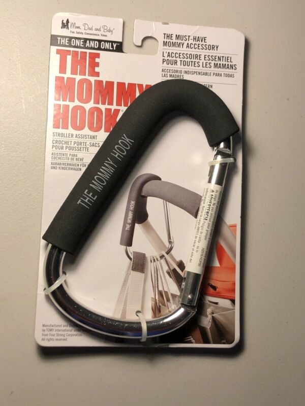 The Mommy Hook & Baby Hook Stroller Assistant Accessory. Black. New. Must Have!