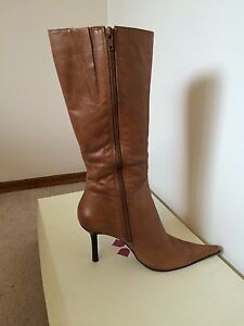 Dress Leather Boots Brown