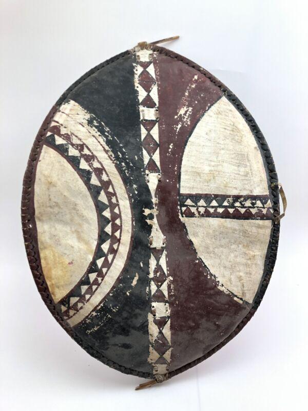 Antique African Maasai War Hand Painted Original Shield