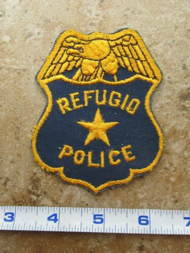 OBSOLETE Vintage State of Texas City of Refugio Police Department Shoulder Patch