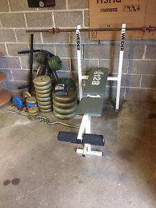 Weights, Bench Press, Exercise Equipment