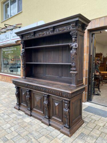 Bücherschrank Bücherregal Bibliothek Buffet Museal Renaissance1800 -1860 Rarität