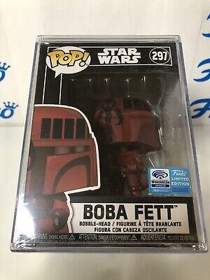 Funko Pop Star Wars 297 Boba Fett Wonder Con 2020 Sealed In A Pop Stack