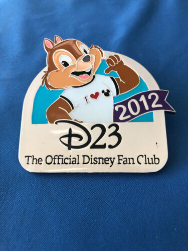 CHIP  Chip Dale Disney Pin D 23 CLUB EXCLUSIVE  2012   D23 mini JUMBO Fan Club