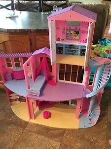 Large Barbie house ( folds up)