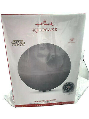 Hallmark Star Wars Death Star Tree Topper Christmas Ornament 2019 New In Box