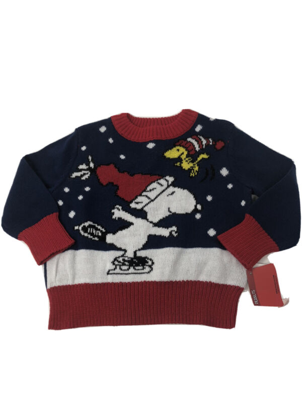 NWT PEANUTS TODDLER SIZE 12M SNOOPY CHRISTMAS SWEATER
