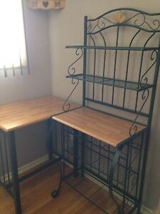 Bakers rack with matching table