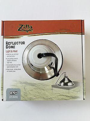 """Zilla Reptile Silver Dome Heat Light 8.5"""" Fixture Lamp Max Bulb Size 150 watts"""