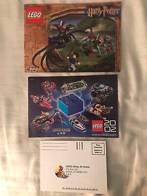 Lego 4727 INSTRUCTION BOOKLET ONLY. Harry Potter Aragog in Dark Forest. NO LEGO!