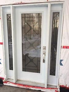 Custom Front Door with 2 side lights Kitchener / Waterloo Kitchener Area image 1